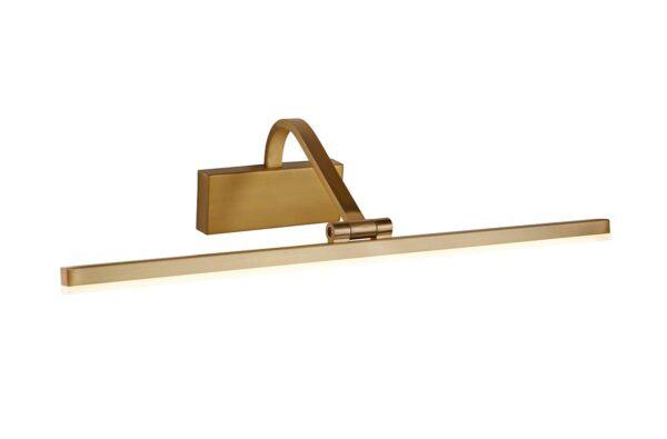 Slimline 51cm LED Picture Light Brushed Satin Bronze Adjustable Head