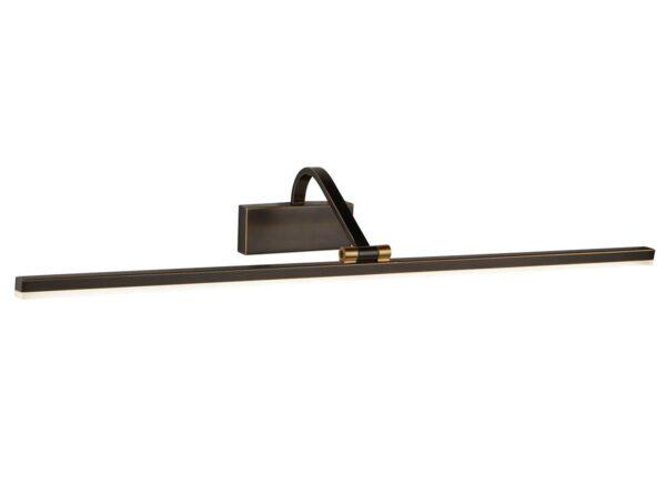 Slimline 70cm LED Picture Light Black & Brushed Gold