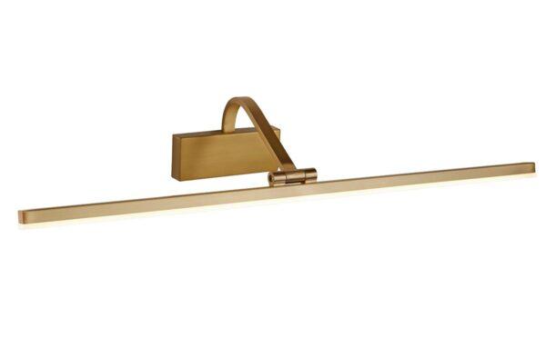 Slimline 70cm LED Picture Light Brushed Satin Bronze Adjustable Head