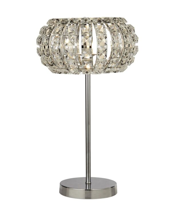 Marilyn Sparkling 1 Light Crystal Table Lamp Polished Chrome