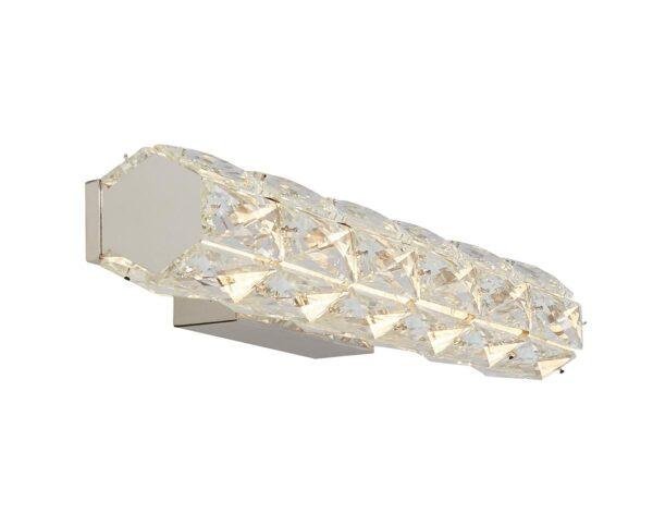 Remy 15w LED Crystal Tube Modern Wall Light Polished Chrome