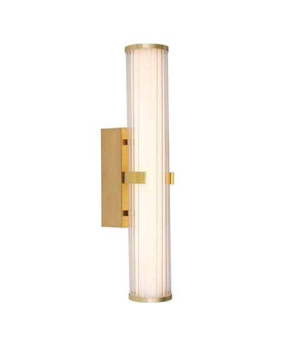 Clamp 1 Lamp 18w LED Bathroom Wall Tube Light Satin Gold IP44