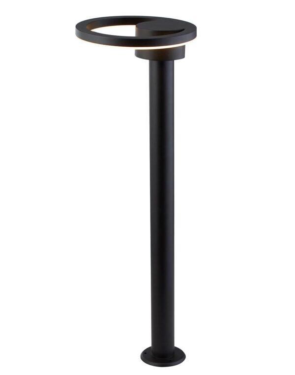 Modern Warm White LED 73cm Outdoor Post Light Sanded Black IP44