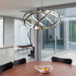 Bardot 7 Light 43w LED Swirl Pendant Ceiling Light Polished Chrome
