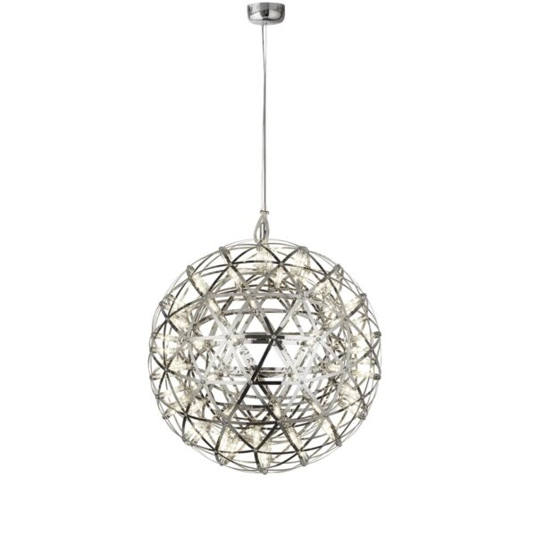 Galaxy Dimmable LED 40cm Modern Sphere Ceiling Pendant Chrome