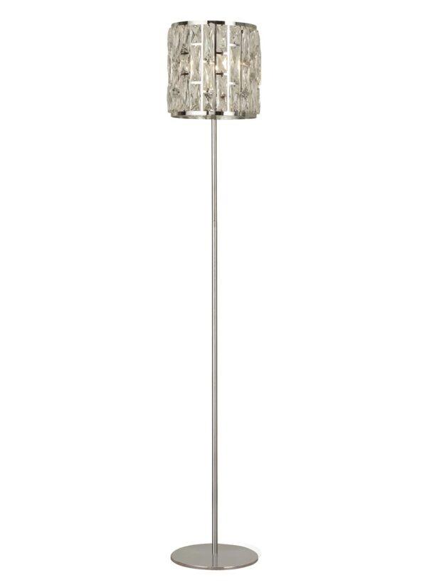 Bijou Classic 1 Light Sparkling Crystal Floor Lamp Polished Chrome