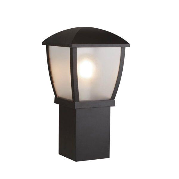 Seattle Traditional 1 Light 45cm Post Top Lantern Textured Black IP44