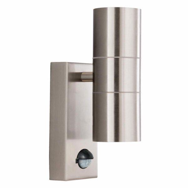 Modern Stainless Steel Outdoor PIR Up & Down Wall Spot Light IP44