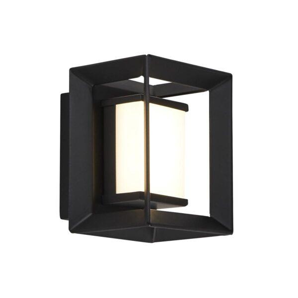 Chaplin Art Deco Cube LED Bathroom Wall Night Light Black & White