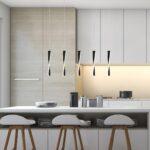 Contemporary 5 Light LED Twisted Paddle Ceiling Pendant Bar Matt Black