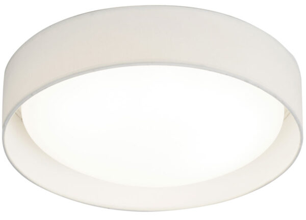 Modern 1 Light 18W LED Flush Mount Ceiling Light White Shade