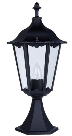 Alex Traditional Black Aluminium Gate Post Light IP44