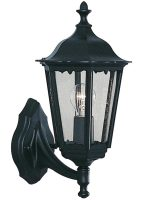 Alex Traditional Black Aluminium Upward Outdoor Wall Lantern IP44