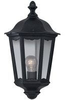 Alex Traditional Black Flush Outdoor Wall Lantern IP44