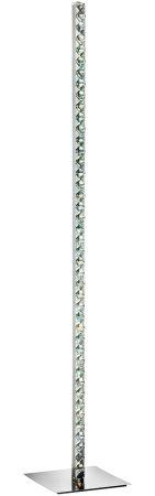 Clover Column Floor Lamp Cool White LED Polished Chrome Crystal
