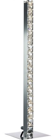 Clover Column Table Lamp Cool White LED Polished Chrome Crystal