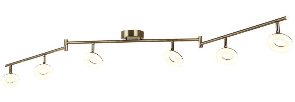 Donut 6 light led split ceiling spot light bar antique brass 8906ab donut 6 light led split ceiling spot light bar antique brass mozeypictures Gallery