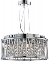 Elise 4 Light Ceiling Pendant Polished Chrome Crystal Diamond Cut Tubes