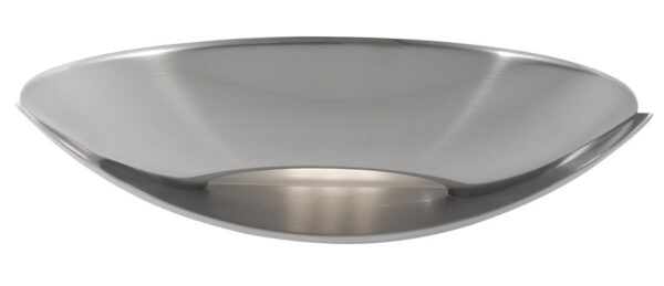 LED Half Moon Wall Washer Light Satin Silver Frosted Glass