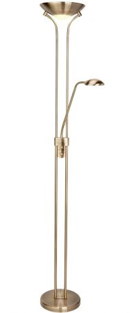 Mother & Child LED Floor Lamp Dual Dimmers Antique Brass