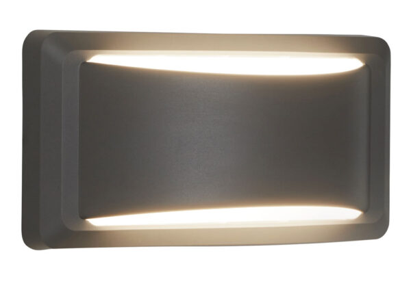 Outdoor LED Crescent Up & Down Wall Light Dark Grey IP65