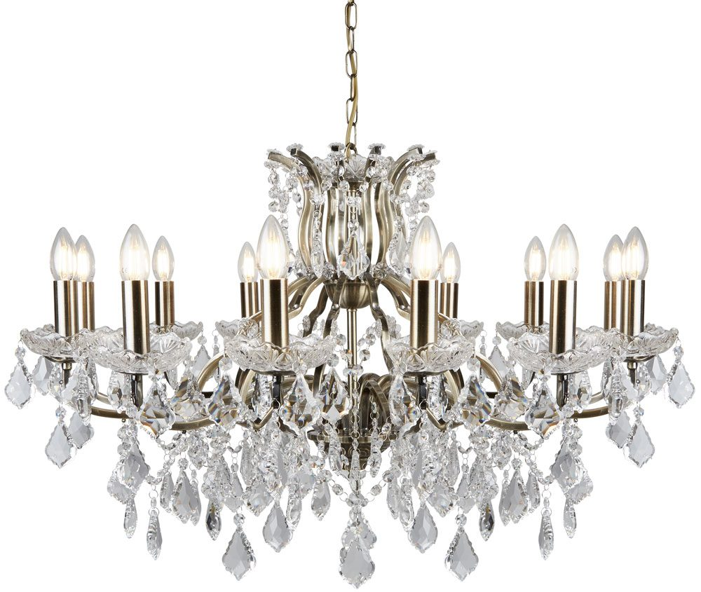 Paris large 12 light clear crystal chandelier antique brass traditional aloadofball Choice Image