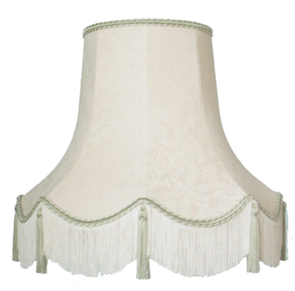 Clip on Fabric Lampshade Cream and Gold
