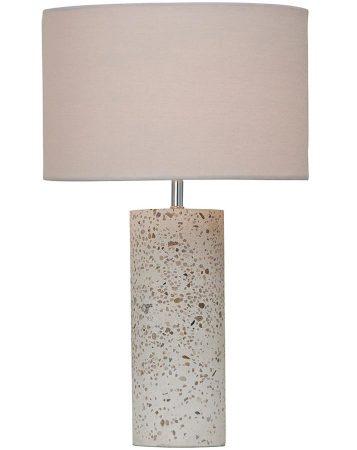 Speckle Terrazzo Stone Concrete Table Lamp Light Grey Shade