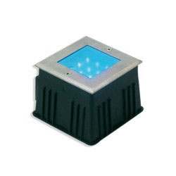 Square WHITE LED Drive Over Light