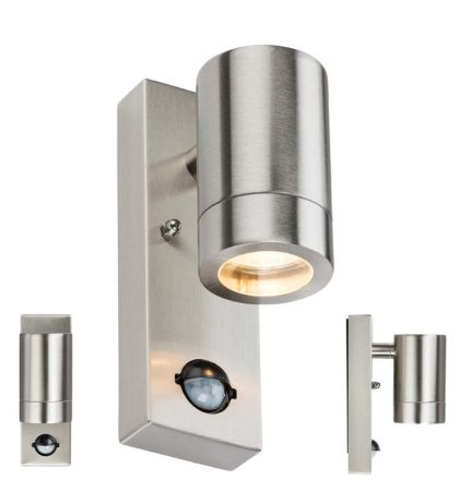 Stainless Steel Outdoor Wall Down PIR Light Manual Override