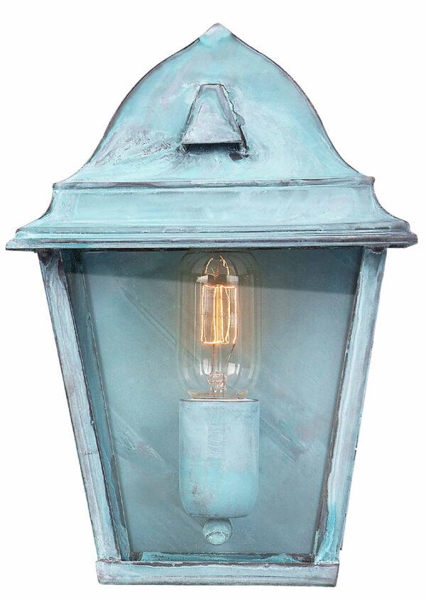 Elstead St James 1 Light Solid Brass Outdoor Wall Lantern Verdigris