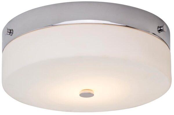 Elstead Tamar Large Flush Bathroom Ceiling Light Polished Chrome IP44