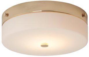 elstead tamar medium flush bathroom ceiling light polished