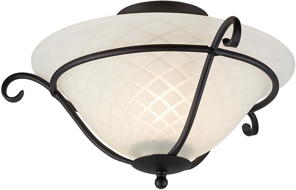 torchiere black wrought iron flush ceiling light uk made tch f blk