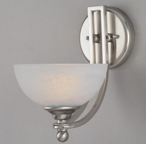 Texas Art Deco Style Satin Nickel Single Wall Light
