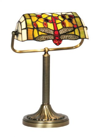 Dragonfly Tiffany Banker Table Lamp