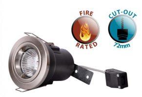 Die Cast Twist Lock Fire Rated GU10 Recessed Downlight Satin Nickel