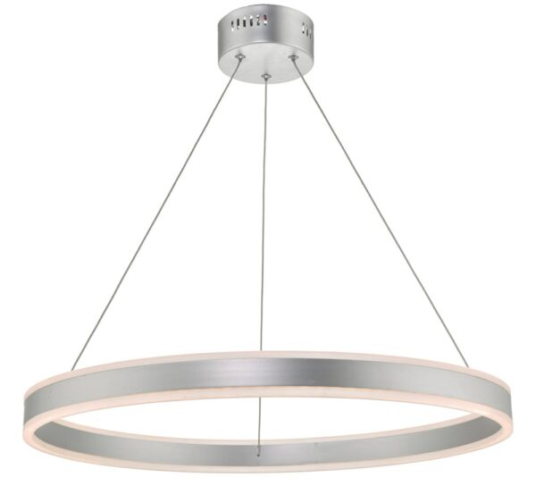 Dar Tybalt Dimmable 20w LED Circular Ceiling Pendant Silver