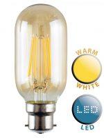 Filament 4w LED Radio Valve B22 Light Bulb Warm White 440 Lumen