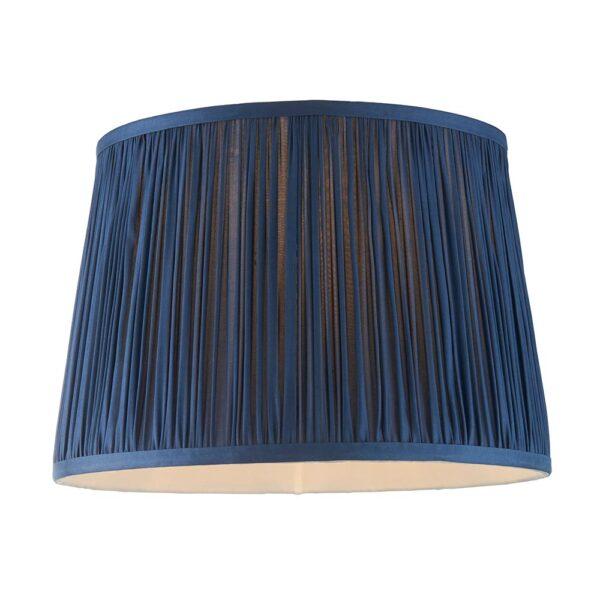 Wentworth Classic Gathered Pleat Blue 12 Inch Satin Silk Lamp Shade