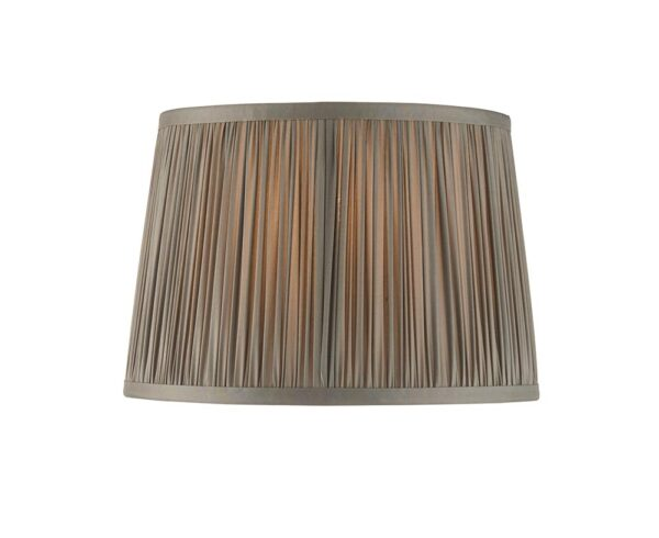 """Wentworth Classic Gathered Pleat Charcoal 10"""" Satin Silk Lamp Shade"""