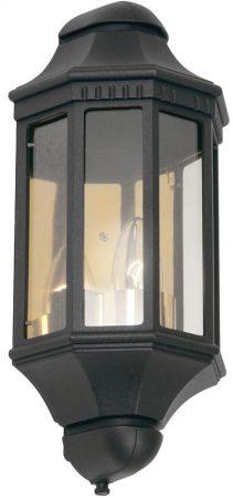 Traditional Black Flush Outdoor Half Wall Lantern