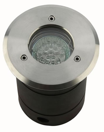 Round Stainless Steel Driveover In Ground Light