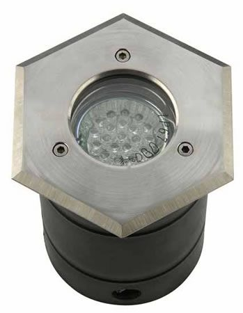 Hexagonal 316 Stainless Steel Driveover In Ground Light