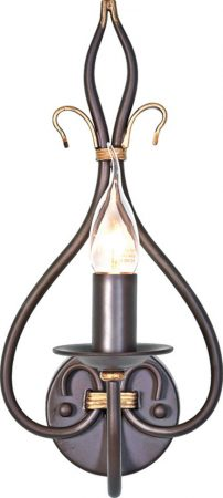 Windermere Rust Gold Wrought Iron Single Wall Light