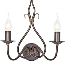 Windermere Rust Gold Wrought Iron Twin Wall Light