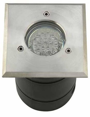 Square Stainless Steel Ground Light