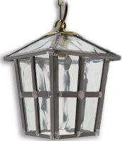York Handmade Rippled Leaded Glass Hanging Outdoor Porch Lantern