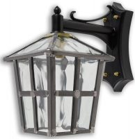 York Handmade Clear Rippled Leaded Glass Outdoor Wall Lantern